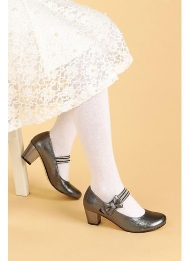 Kiko Kids Kiko 752 Vakko Günlük Kız Çocuk 4 Cm Topuk Babet Ayakkabı Gri